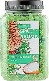 Морская соль для ванн Bioton Cosmetics Spa Aroma хвойная с эфирными маслами кедра и кипариса 750 г (4823097600511)