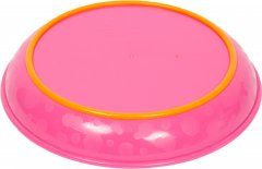 Тарелка секционная Курносики 7057 с прорезиненным дном Розовая 500 мл (4890210370576)