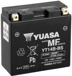 Мото аккумулятор Yuasa 12V 12.6Ah MF VRLA Battery YT14B-BS (сухозаряжений) (YT14B-BS)