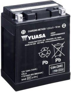 Мото аккумулятор Yuasa 12V 12.6Ah High Performance MF VRLA Battery AGM YTX14AH-BS (сухозаряжений) (YTX14AH-BS)