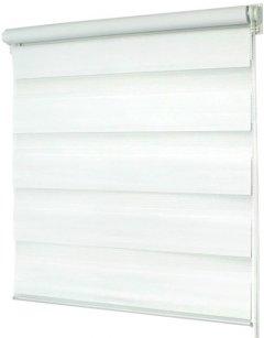 Ролета Деко-Сити мини День/Ночь, 80x170 см, ткань синтетическая, Белый (39008080)