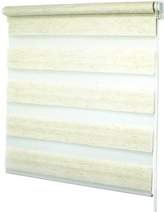 Ролета Деко-Сити мини День/Ночь, 65x170 см, ткань синтетическая, Лен (39400065)