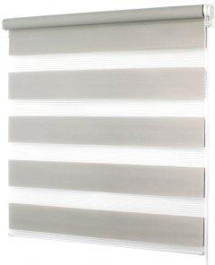 Ролета Деко-Сити мини День/Ночь, 52x170 см, ткань синтетическая, Серый (39020052)