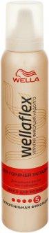 Мусс для волос Wella Wellaflex для горячей укладки сильной фиксации 200 мл (3614227120372)