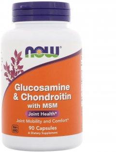 Хондропротектор Now Foods Глюкозамин & Хондротин с МСМ 90 капсул (733739031709)