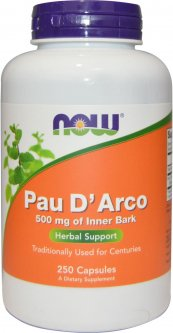 Натуральная добавка Now Foods Pau D`Arco Екстракт Коры Муравьиного Дерева 250 гелевых капсул (733739047267)