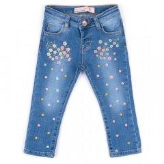 Джинсы Breeze джинсовые с цветочками (OZ-17703-74G-jeans)