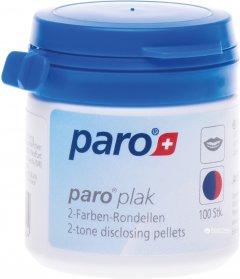 Двухцветные подушечки для индикации зубного налета Paro Swiss plak 2-tone disclosing pellets 100 шт (7610458012024)