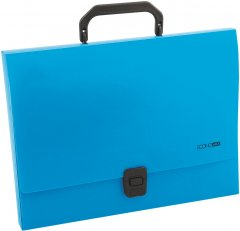 Портфель пластиковый Economix A4 на застежке, 1 отделениe 700 мкм 1 шт Синий (E31607-02)
