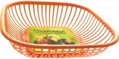 Сухарница-корзинка для фруктов Martika Оранжевая 28х28 см (С59 ОРАНЖ)