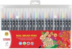 Фломастеры-кисточки Maxi Real Brush 24 цвета (MX15230)