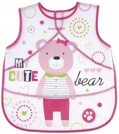 Слюнявчик пластмассовый Canpol Babies Puppets Розовый (9/236_pin) (5901691816831)