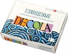 Краски акриловые Невская палитра Decola глянцевые 12 цветов 20 мл (4607010583996)