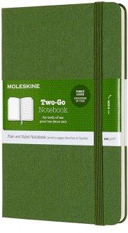 Записная книга Moleskine Two-Go 11.5 x 17.5 см 144 старницы Зелёная (8058647620190)