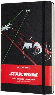 Записная книга Moleskine Star Wars 13 х 21 см 240 страниц в линейку Корабли (8058341713471)