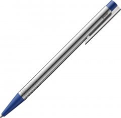 Ручка шариковая Lamy Logo Хром Синяя кнопка/Стержень M16 1 мм Синий (4014519271345)