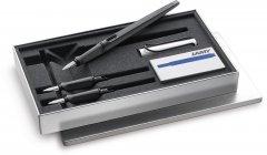 Набор для калиграфии Lamy Joy (Чернильная Ручка Матовая Чёрная с хромированым колпачком / Перо 1.1 мм, 1.5 мм, 1.9 мм / Чернила T10 Синие)(4014519439400)