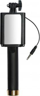 Монопод для селфи Grand-X Mirror 360 с зеркалом и кабелем 3.5 U-крепление Gold (MI3UG)