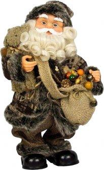 Фигурка Дед Мороз mag-2000 музыкальный танцующий с подарком и медвежонком 36 см Коричневый (230150) (5102681230150)