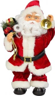 Фигурка Дед Мороз mag-2000 музыкальный танцующий с колокольчиком 36 см Красный (230167) (5102681230167)