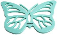 Подставка под горячее Fissman в форме бабочки с магнитом Aquamarine (7268.А)