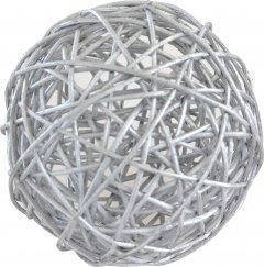 Елочный шар Новогодько (YES! Fun) ротанг Серебристый 10 см (973314) (5056137144389)