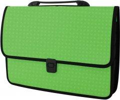 Портфель Economix на застежке фактура Вышиванка Салатовый (E31641-13)