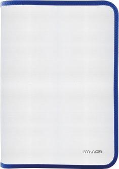 Папка-пенал пластиковая Economix на молнии А4 Синий (E31644-02)
