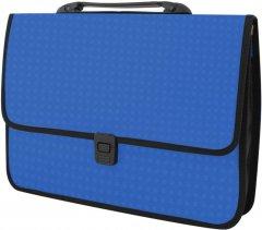 Портфель Economix на застежке фактура Вышиванка Синий (E31641-02)