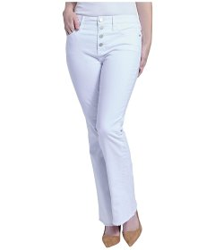 Джинси Seven7 Jeans High-Rise Flip-Flop Flare Jeans in White White, XXL (50) (10912227)