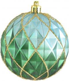 Елочный шар Новогодько (YES! Fun) Полигональный 8 см Зеленый (972956) (5056137109807)