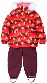 Зимний комплект (куртка + полукомбинезон) Lenne Elsa 18318A/6220 74 см Малиновый с салатовым (4741578226398)