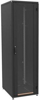 """Шкаф телекоммуникационный универсальный ZPAS SZB IT WZ-IT-246080-69AA-2-161-FP 19"""" со стеклянной дверью 24U Черный (IT-246080-69AA-2-161-FP)"""