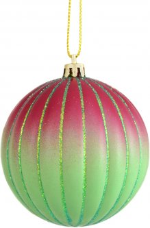 Елочный шар Новогодько (YES! Fun) Градиент ребристый 8 см Разноцветный (972854) (5056137109296)