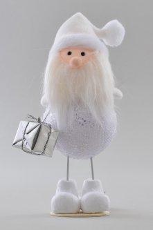 Ёлочная игрушка Новогодько (YES! Fun) Дед Мороз декорированный серебром (973413)