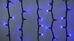 Светодиодная гирлянда DELUX ICICLE flash 108LED 2 х 1 м синий/черный IP44 EN (90012946)