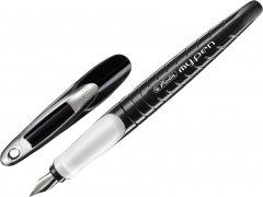 Ручка перьевая для левши Herlitz My.pen Black-White Синяя Чёрный корпус (10999803)