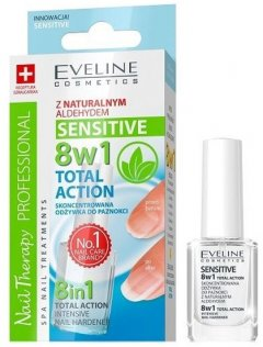 Концентрированное средство для укрепления ногтей Eveline Nail Therapy Professional Sensitive 8в1 12 мл (5901761938111)