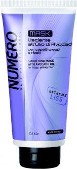 Разглаживающая маска для волос Brelil Professional Numero Smoothing Shampoo с маслом авокадо 300 мл (8011935075164)