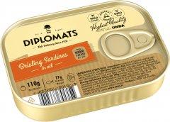 Сардины Diplomats подкопченные в масле 110 г (4750010022146)