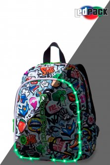 Рюкзак CoolPack Bobby multicolour LED с USB-кабелем и кодовым замком 30x22x8.5 см 8 л Graffity (A23201)