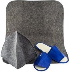 Набор для сауны Leviter тапочки, шапка, коврик (4820120050992)