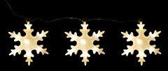 Декоративное украшение Luca Lighting из 3 фигурок Три снежинки (8718861498714matt)