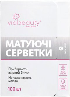 Матирующие салфетки Via Beauty 100 салфеток (6971663406307)