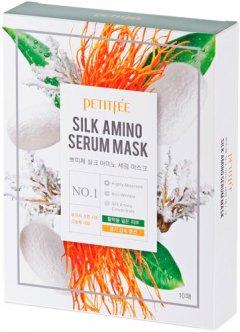 Маска для лица с протеинами шелка Petitfee Silk Amino Serum Mask 10 х 25 г (8809508850030)