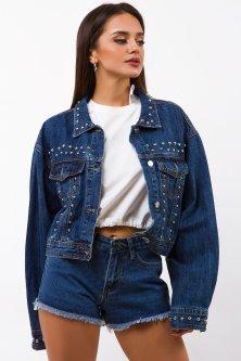 Куртка джинсовая Remix 10303 S Синяя (2950006500708)