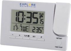 Проекционные часы Explore Scientific Slim Projection RC Dual Alarm White (RDP1003GYELC2)