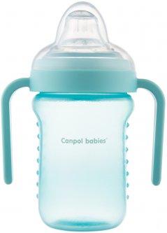 Кружка непроливайка Canpol Babies с силиконовым носиком 220 мл Голубая (56/605_blue)