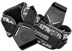 Крюки для тяги на запястья Power System Hooks Camo PS-3370 XL Black/Grey (PS_3370_Black/Grey XL)