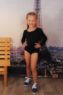 Спортивний купальник для танців 104-110 см чорний